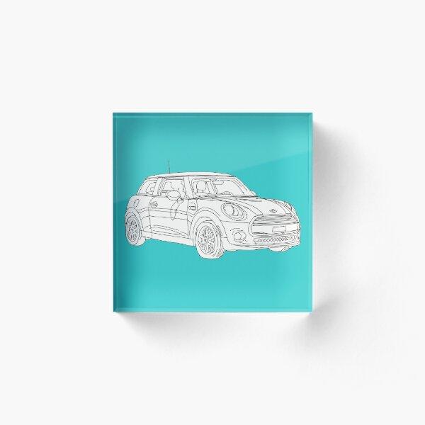 Mini Hatch (Mini Cooper) Acrylic Block