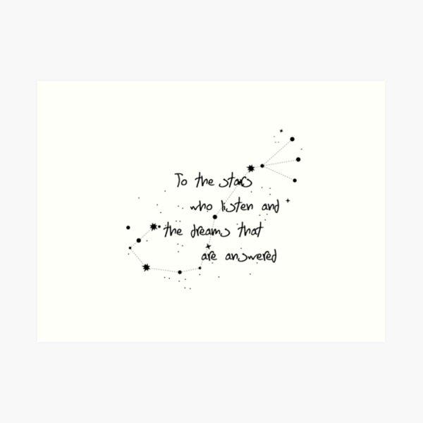 To The Stars - ACOMAF Art Print
