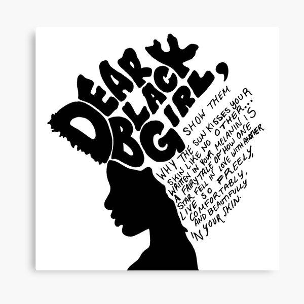 Dear Black Girl Canvas Print