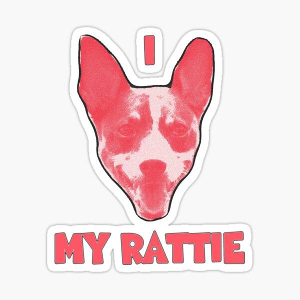 I Heart My Rattie Rat Terrier Sticker