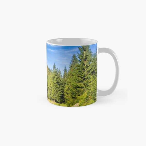 river with stones  in forest  Classic Mug