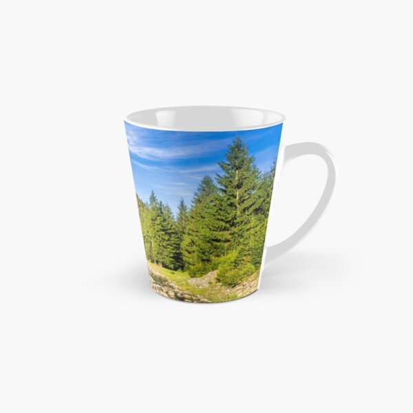 river with stones  in forest  Tall Mug
