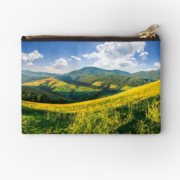 agricultural fields in mountains Zipper Pouch