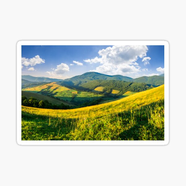 agricultural fields in mountains Sticker