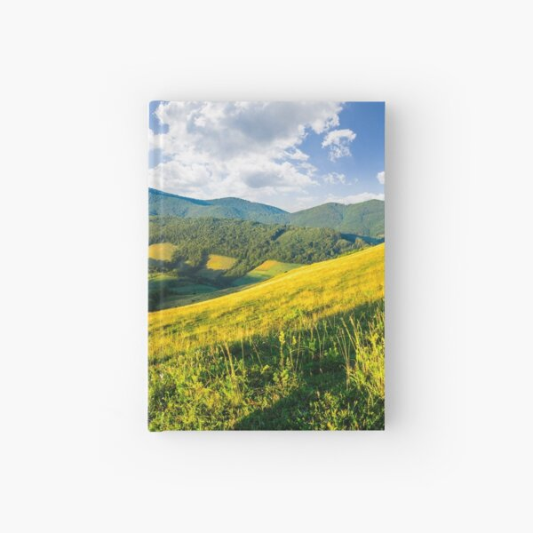 agricultural fields in mountains Hardcover Journal