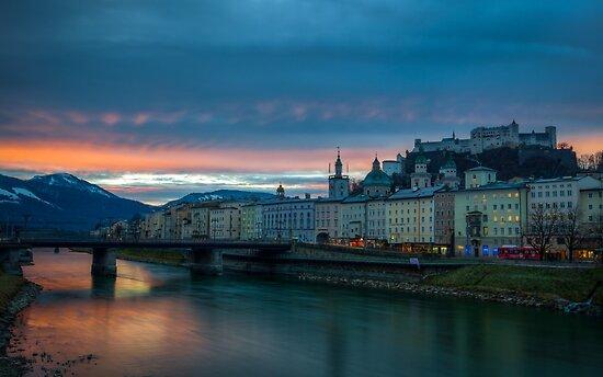 Sunrise in Salzburg by Johannes Valkama