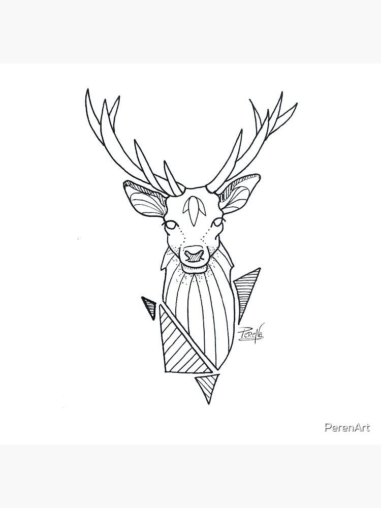 «Cerf géométrique» par PerenArt