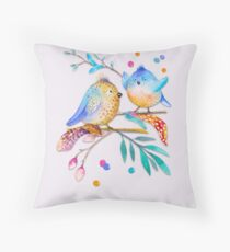 Happy Birds II – (not) only for kids Throw Pillow