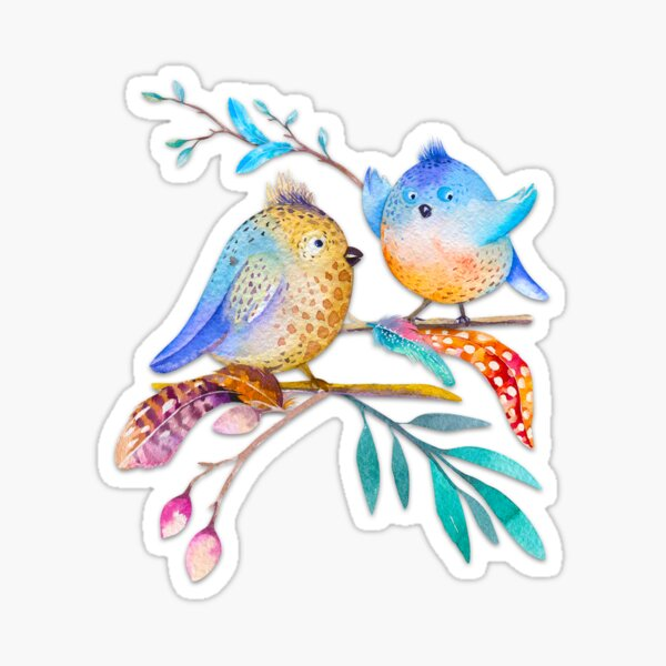 Happy Birds II – (not) only for kids Sticker