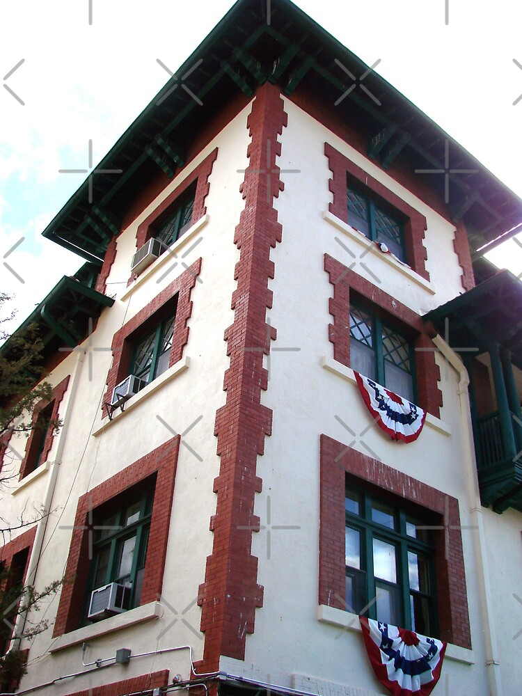 bisbee hotel looking up by Kimberly Miller