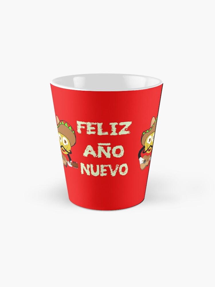 Alternate view of Happy New Year Spanish Holiday Celebration Mugs