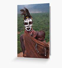 KARO MOTHER AND CHILD - ETHIOPIA Greeting Card