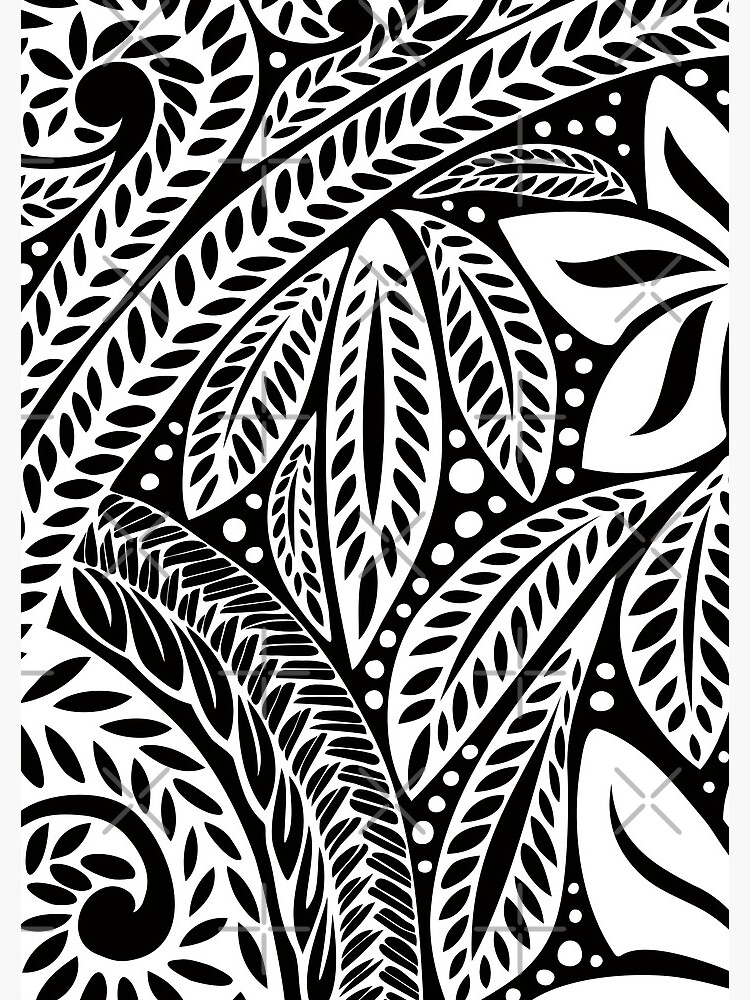 f5dd6e266 White Polynesian flower floral tattoo design over black background by  AyeletF