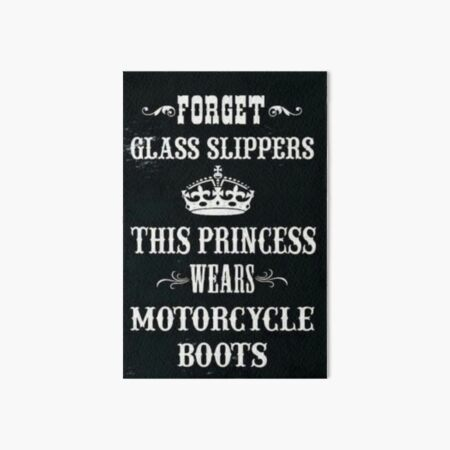 Ladies Forget Glass Slippers Motorcycle Boots T-shirt Funny Biker Mum Gift Top