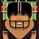 American Football Black and Maroon - Enzone Puntfumbler - Seba version by boxedspaper