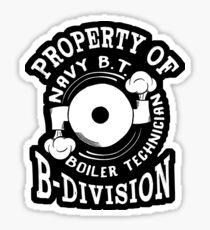 Property of B-Division Navy B.T. Sticker Sticker