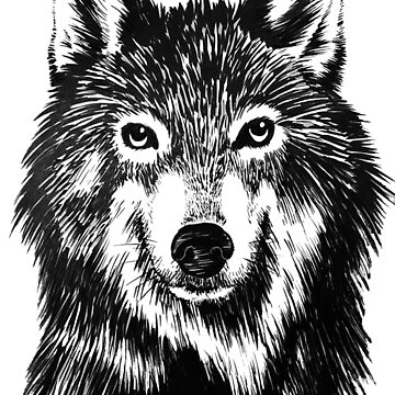 Wolf in ink by OMNproducts