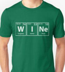 Wine (W-I-Ne) Periodic Elements Spelling Unisex T-Shirt