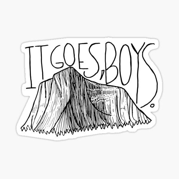it goes, boys.  Sticker