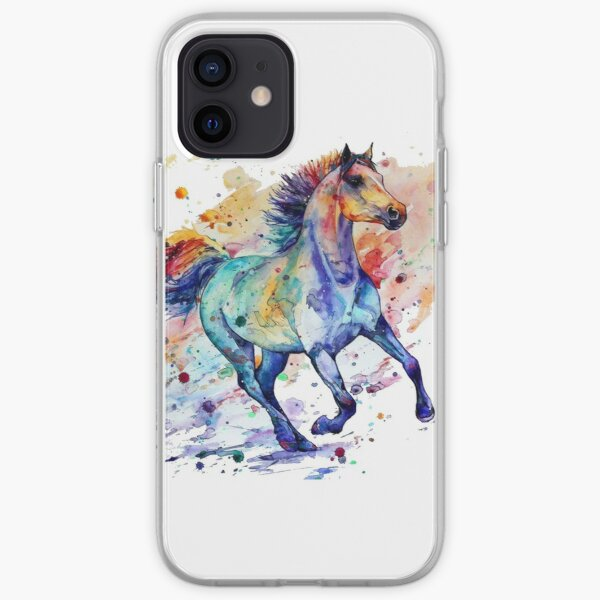 horse art iPhone Soft Case