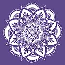 Ultraviolet Flower Mandala by julieerindesign