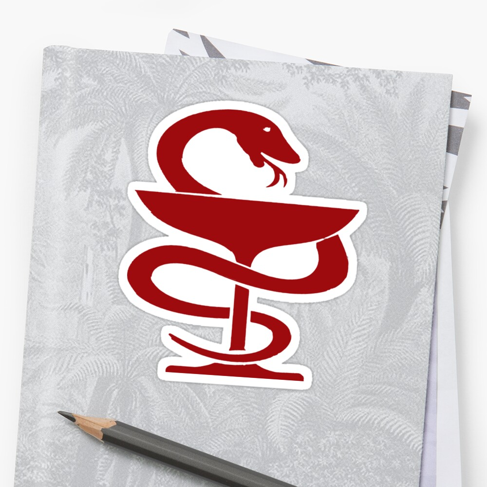 Egyptian Medical Symbol Stickers By 180stays Redbubble
