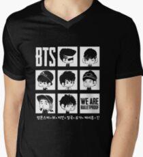 BTS WE ARE BULLETPROOF Chibi Men's V-Neck T-Shirt