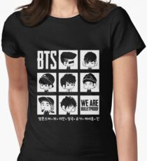BTS WE ARE BULLETPROOF Chibi Women's Fitted T-Shirt