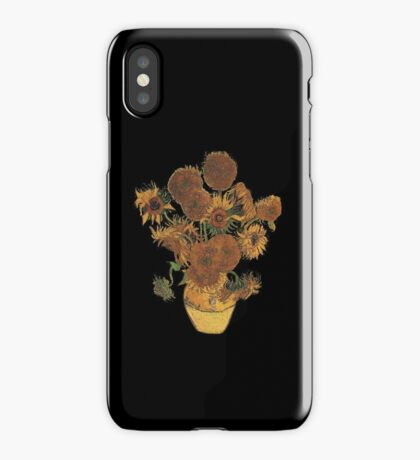 Van Gogh Sun Flowers Grunge iPhone Case