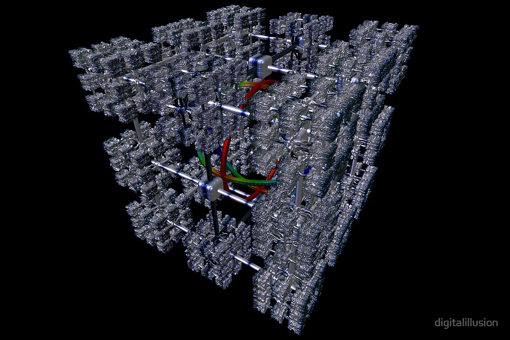 Cubenoid caged cuboids by digitalillusion
