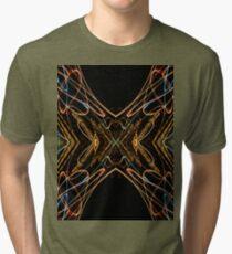 Lightpainting Abstract Symmetry UFA Prints #15 Tri-blend T-Shirt