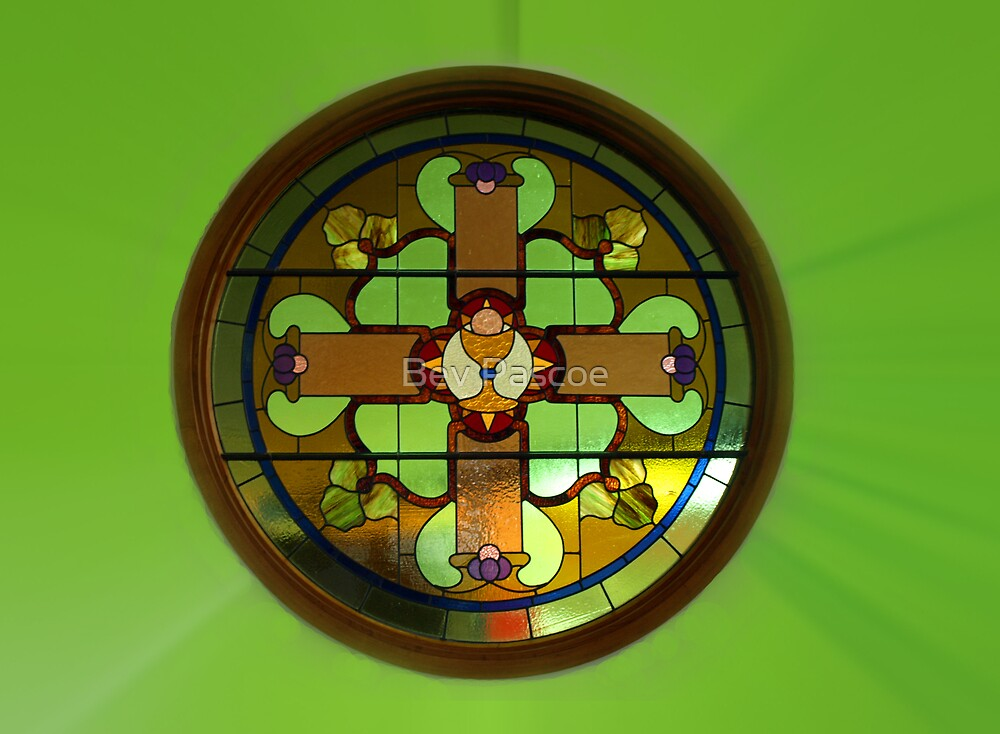 St Ita's Catholic Church - Leadlight Window #2,  Drouin, Australia by Bev Pascoe