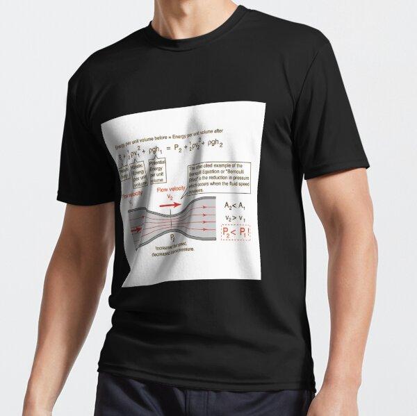 #BernoulliEquation #Physics #Hydrodynamics #statement conservation energy principle flowing qualitative Active T-Shirt