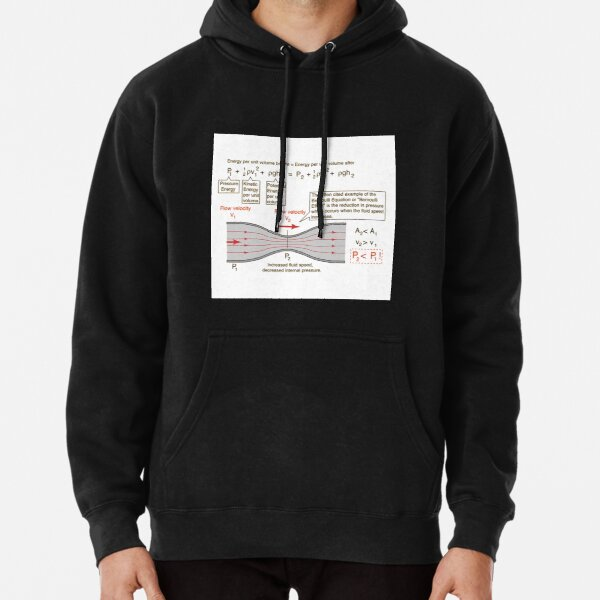 #BernoulliEquation #Physics #Hydrodynamics #statement conservation energy principle flowing qualitative Pullover Hoodie
