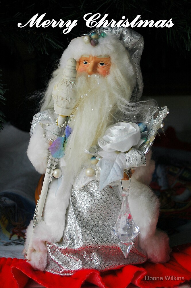 Santa Card by Donna Adamski