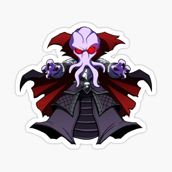 Mighty Mindflayer - Cute D&D Adventures Sticker