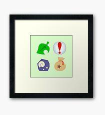 Animal Crossing Icons Framed Print