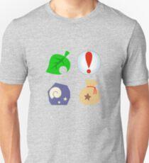 Camiseta ajustada Iconos de cruce de animales