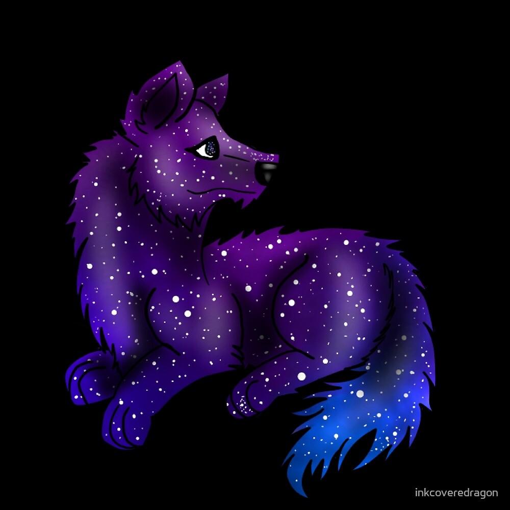 """Galaxy Wolf"" By Inkcoveredragon"