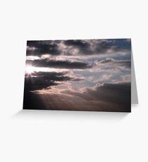 Cloudy Saturday Morning Greeting Card
