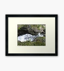 Behind the Waterfall of Love Framed Print