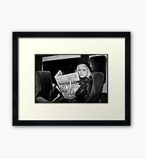 Debbie Harry Newspaper Framed Print