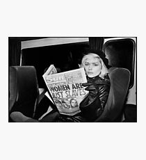Debbie Harry Newspaper Photographic Print