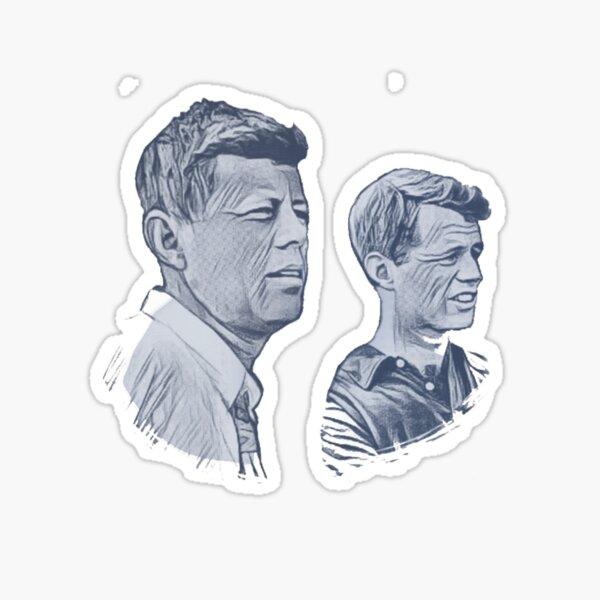 John & Bobby Kennedy Sticker