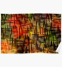 Craquelure Abstract Poster
