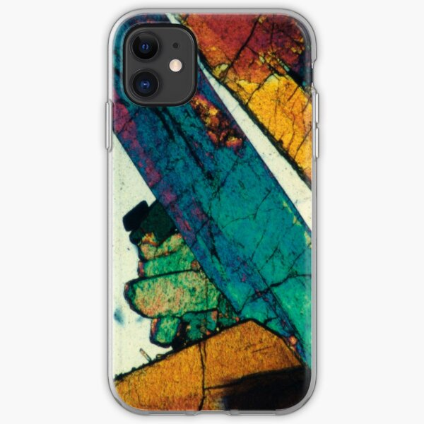 Epidote Blades in Quartz Geological Thin Section Photography iPhone Soft Case