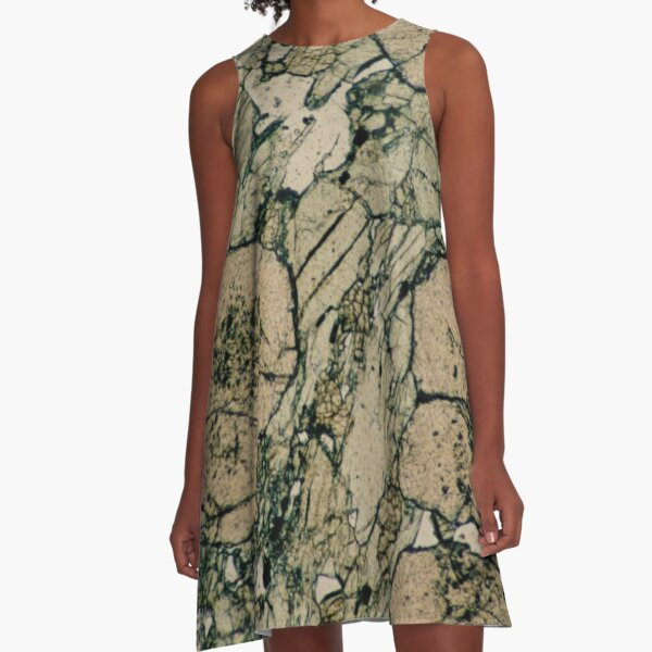 Garnet Crystals in Pyroxene & Quartz A-Line Dress