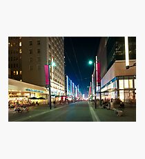 Nightlife On Granville Street In Vancouver Bc Photographic Print