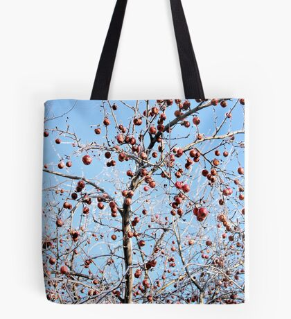 Winter Apple Tree Tote Bag