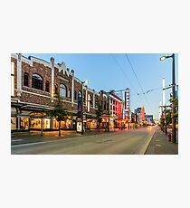 Granville Street At Night. Vancouver BC Photographic Print